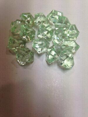 cristal crystal gemmes accessoire de jeu Pion ressource lot de 15 vert