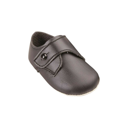 Baypods Soft Sole Traditional Gibson Button Up Baby Boys Pram Shoes UK 0-3