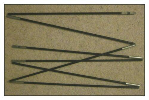 diamètre 9.5 mm 7 sections chaque 65 cm de long. Fibreglass Tent Pole Run