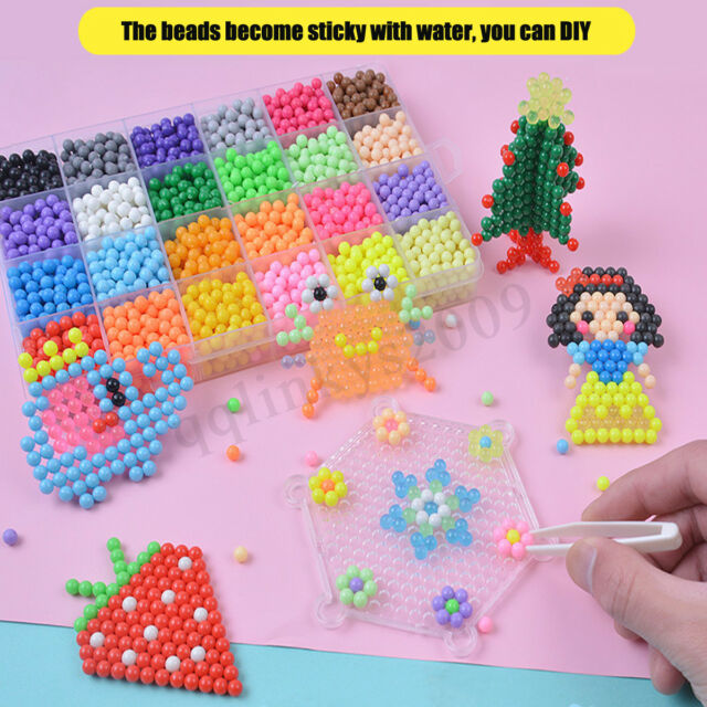 Au 2400pcs 15 Color Fuse Beads Water Sticky Aqua Refill Diy Art