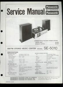 panasonic se 5010 am fm stereo radio turntable orig factory service rh ebay com Panasonic 70 Turntable Panasonic Technics Turntable