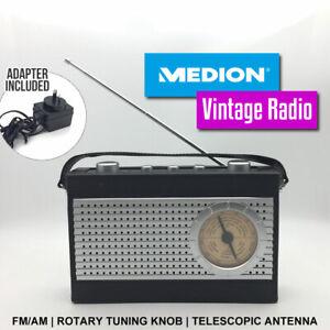 Medion-Vintage-Radio-FM-AM-Rotary-Tuning-Knob-Telescopic-Antenna-E66381-AU-STOCK