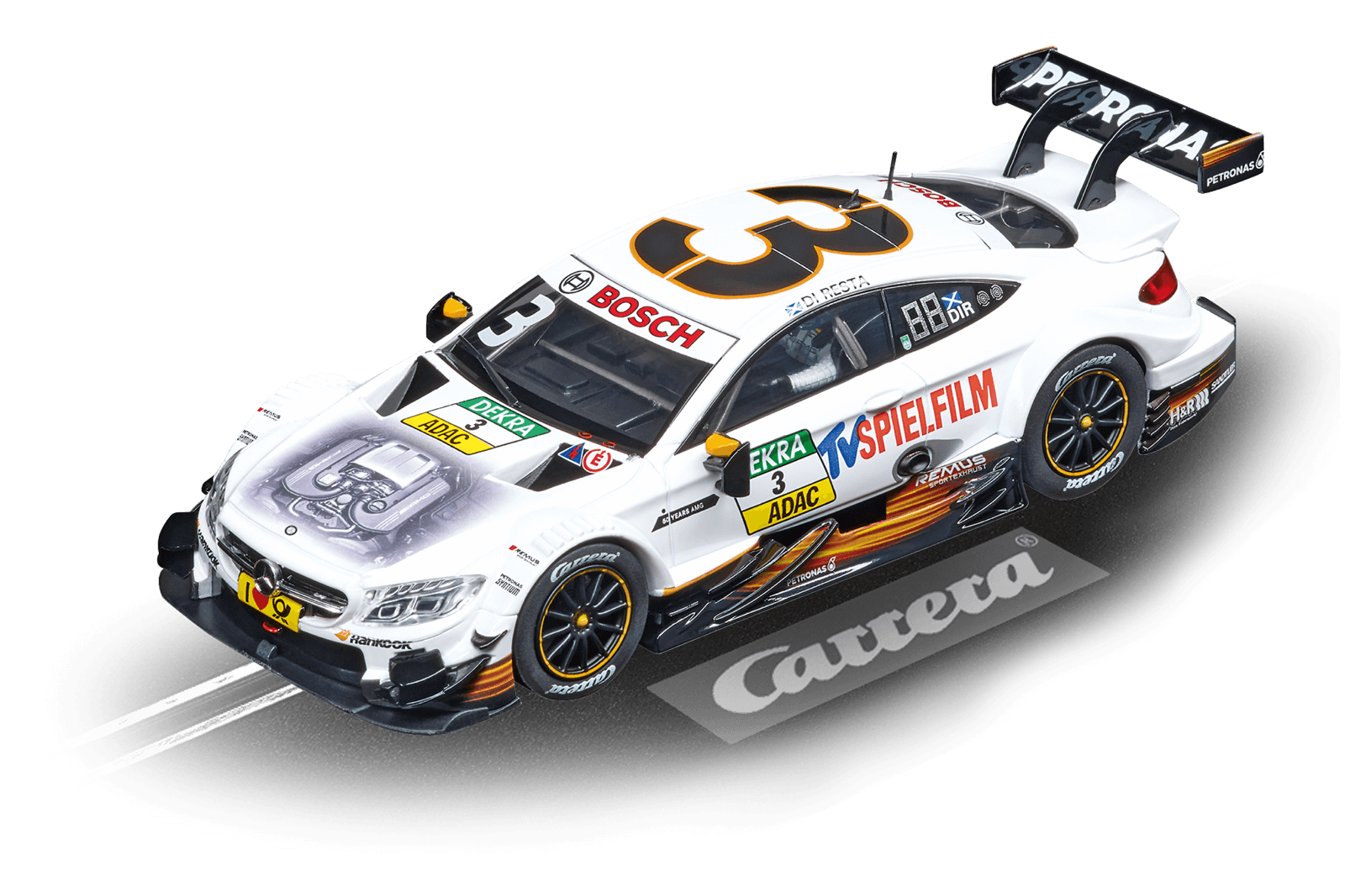 Carrera Digital 132-mercedes AMG C63 DTM  P. Di Resta, No.3