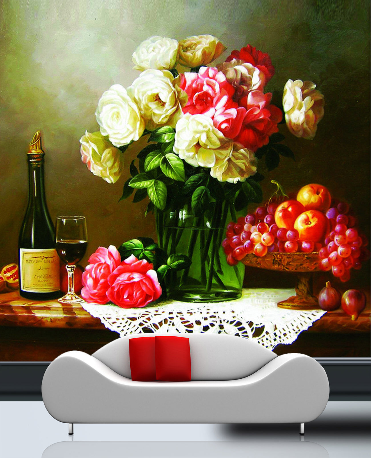 3D Flowers Fruit rot Wine Paper Wall Print Wall Decal Wall Deco Indoor Murals