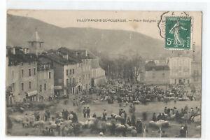 12-VILLEFRANCHE-DE-ROUERGUE-PLACE-SAVIGNAC-UN-JOUR-DE-MARCHE