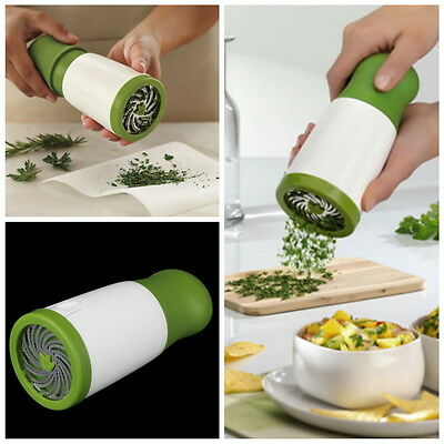 Herb Mill Chopper Cutter Mince Stainless Steel Blades Safely New FE