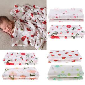 100/% Muslin Cotton Newborn Infant Swaddle Baby Soft Blankets Parisarc Wrap Towel