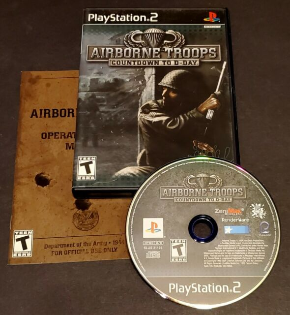 Airborne Troops: Countdown to D-Day (Sony PlayStation 2, 2005) CIB