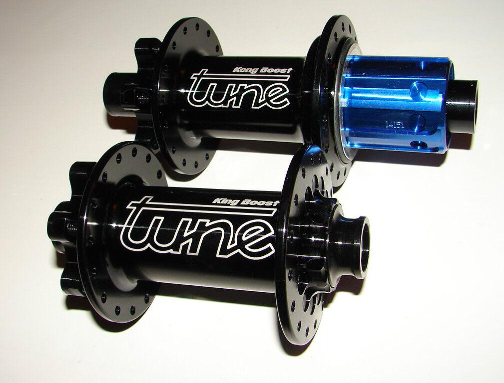 Tune King Kong Boost disc 148x12 110x15 SRAM XD Shimano 28 holes hub set negro