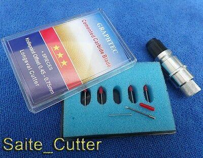 1× Graphtec CB09 Silhouette Cameo Craftrobo Vinyl Cutter Holder +5pcs 45° Blades