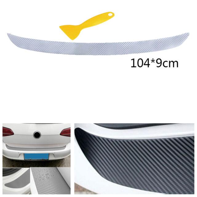 Vehicle Rear Vinyl Film Decal Carbon Fiber Look Sticker Anti-Scratch Waterproof