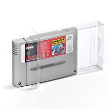 10 Super Nintendo Spiele Schutzhüllen für SNES Spiel Game nur Modul