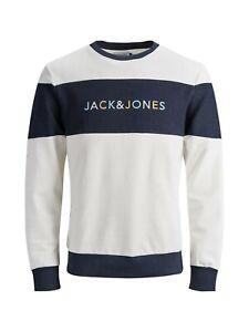 Jack /& Jones Originals Pull d/ét/é col rond pour homme Logo JORALbas L//S