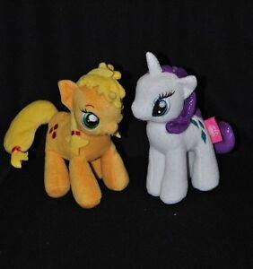 Lot 2 Peluche Doudou Licorne & Poney My Little Pony FAMOSA Blanc Jaune 17Cm TTBE