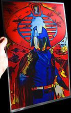 """Cobra Commander G.I. Joe """"Total War"""" rare METALLIC FOIL PRINT 11x17"""