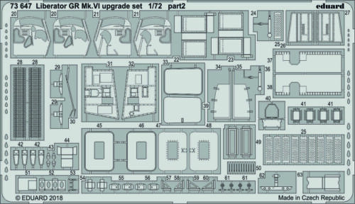 VI Upgrade Set Hasegawa Eduard PE 73647 1//72 Consolidated B-24 Liberator GR MK