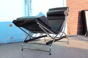 Swecco Designer Relaxsessel Relaxliege Schaukelliege Leder Chrom Schwarz Ebay