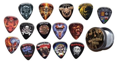 Gold Range Motorhead Lemmy 15 X Guitar Picks with Tin