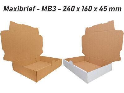 Wei/ß 75x Maxibriefkartons Versandkartons Faltschachtel Faltkarton Maxibrief Karton 240 x 160 x 45 MB-3