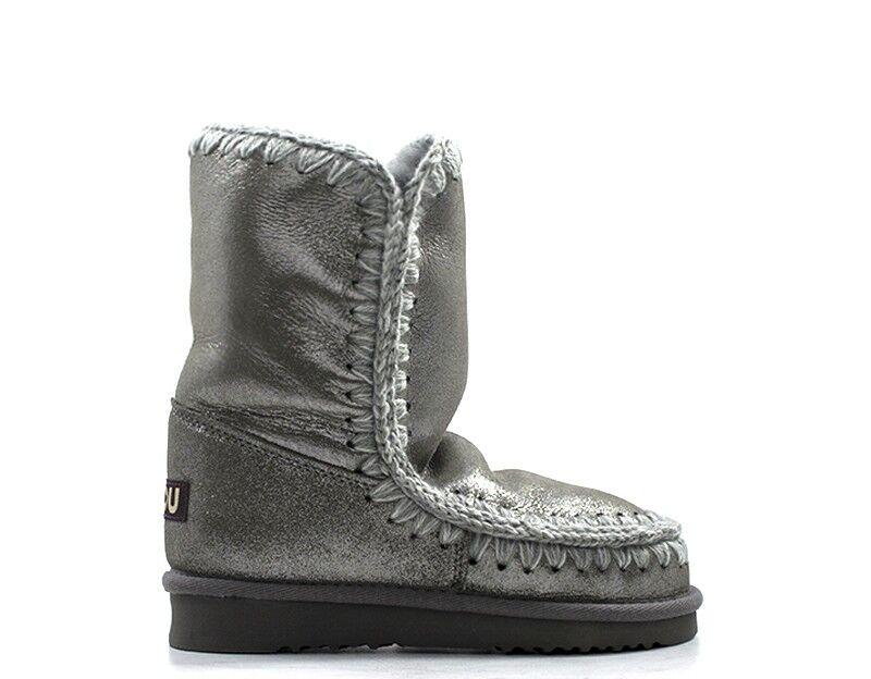 Mou shoes women grey leather natural Eskimo 24lim-mglap