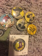 Lot: 1930's 1940's Buttons Pinbacks Rod Cameron Johnny Mack Brown Roy Rogers