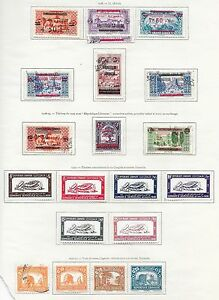 French Lebanon stamps 1928 Collection of 20 stamps CAT VALUE $155
