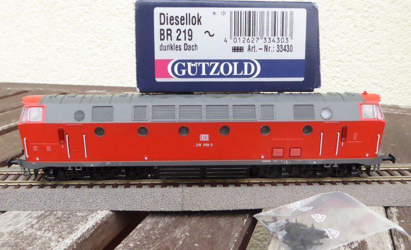 Gützold 33430 H0 Locomotora Diésel Br 219 Db Ag Ep 5. 6 , Digital, Barco de u ,