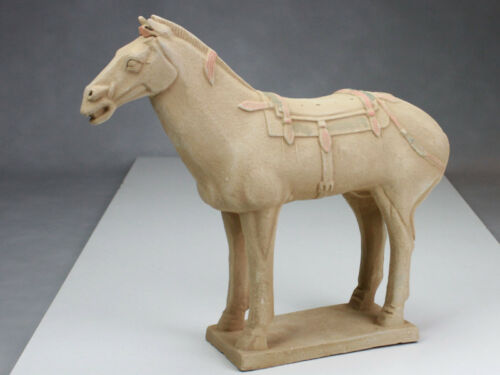 Tonsoldat Terra Cotta Armee China Terrakotta Krieger Pferd 42 cm Serie hell
