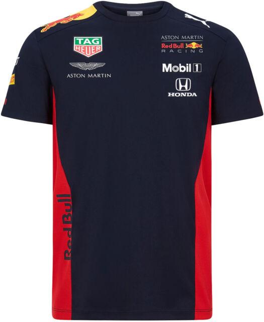 PUMA Red Bull Racing F1 2020 Men's T-Shirt Tee Short Sleeve Navy Blue NEW