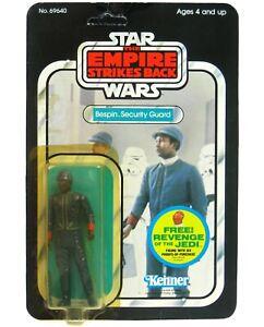 Vintage 1980 Kenner Star Wars Esb Bespin garde de sécurité noir Unpunched Unp Moc