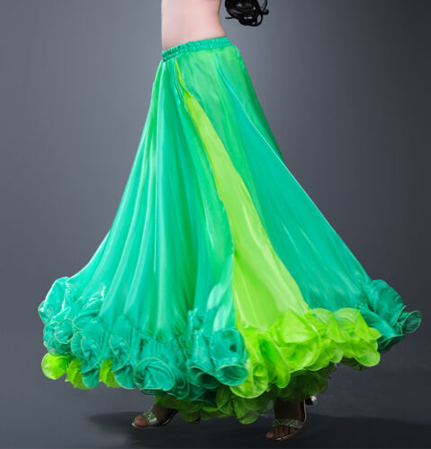 Professional Belly Dance Costume Waves Skirt Dress with Slit Carnival Bollywood