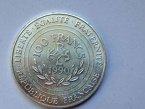 tres-belle-monnaie-100frs-argent-Charlemagne-Empereur-d-039-occident-1990-TTB-SUP