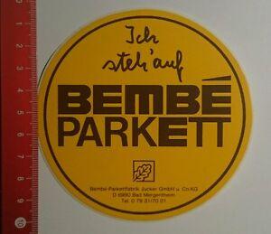 Aufkleber/Sticker: Ich steh auf Bembe Parkett Bad Mergentheim ...