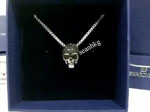 128b8c274ad0e Details about Swarovski Taddeo Skull Pendant, Stainless Steel Chain Men's  Crystal MIB 1180839