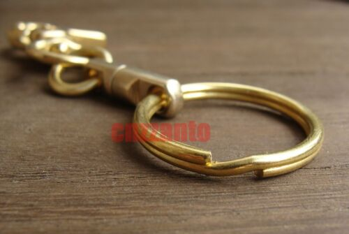 Solid Brass Lobster Clasps swivel trigger snap hook key chain ring holder H034