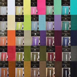 Single-Sheer-Voile-Window-Curtain-Panel-55-034-W-x-95-034-L-Fully-Hemmed-Rod-Pocket