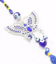 Blue Evil Eye Butterfly Wall & Car Hanging Amulet Protection Blessing Gift Decor