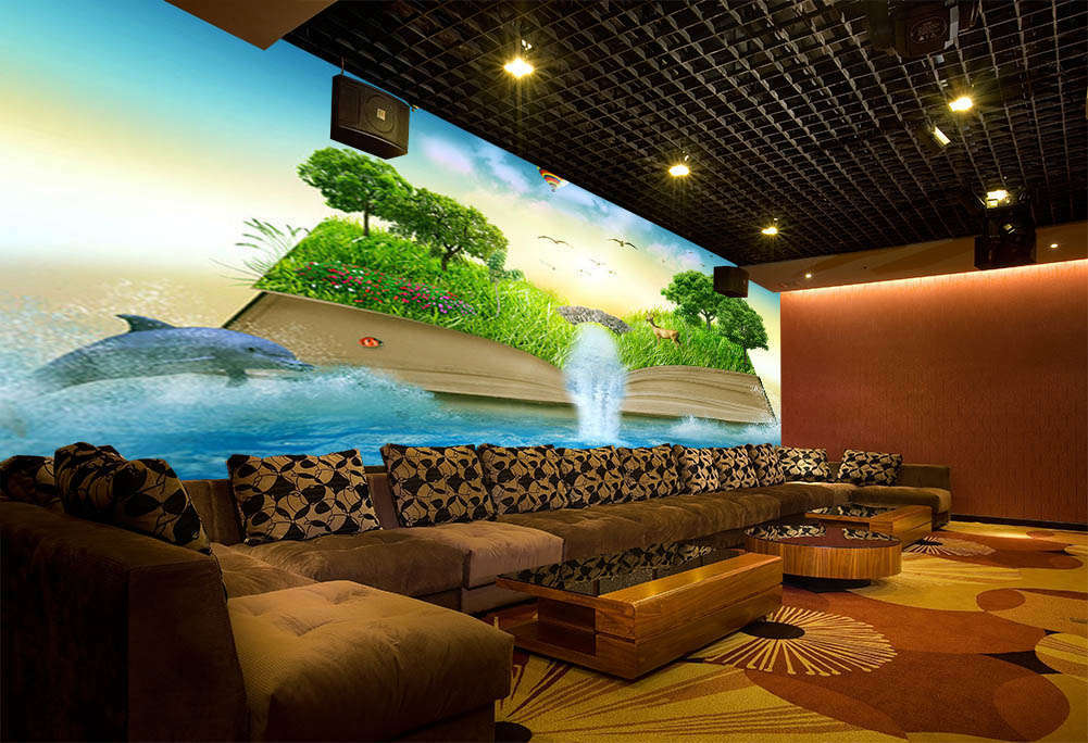 Farbe Of  Forest 3D Full Wall Mural Photo Wallpaper Printing Home Kids Decor