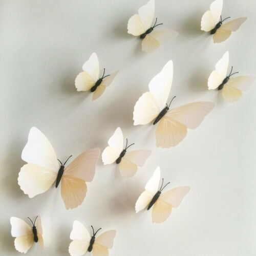 12pc Decorative 3d Butterfly Wall Stickers With Magnet Removable For Home White Children S Bedroom Boy Dã Cor Decals Stickers Vinyl Art Home Garden Pumpenscout De