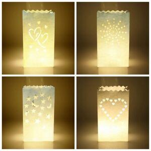 10Pc-Lot-Star-Xmas-Tealight-Holder-Candle-Paper-Bag-Lantern-Wedding-Party-Decor