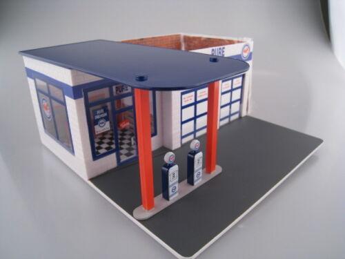 Pure vintage gaz Station Station-service Greenlight 1:64 Neuf dans sa boîte NEUF