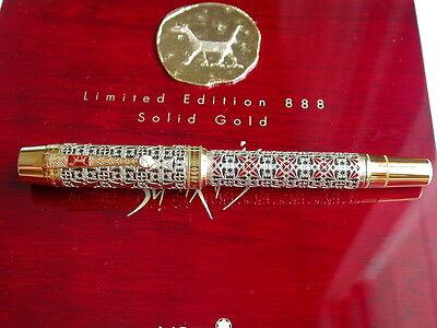 MONTBLANC SEMIRAMIS PEN SOLID GOLD # 676/888