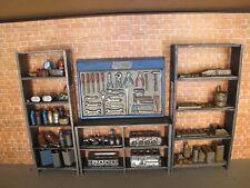 Regal Werkzeug Wand Set Modellauto Garage Werkstatt Diorama Deko Zubehör 1/18