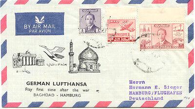 """Sonderabschnitt 2415 Irak 1956 Sehr Selt Erstflug Lufthansa Mit Lh 620 """"baghdad, Irak - Hamburg"""" Warmes Lob Von Kunden Zu Gewinnen"""