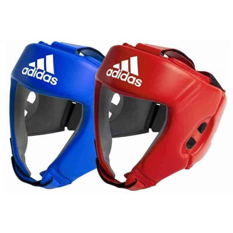 Adidas Leather Pro Boxing  Head Gear Guard bluee Red [S M L XL]  famous brand