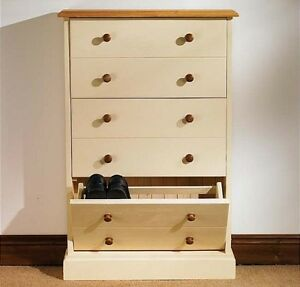 Attractive Image Is Loading Hampton Cream Painted Pine Furniture Large Shoe Storage