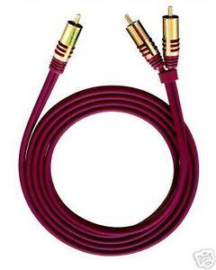 oehlbach nf y adapter kabel cinch auf 2 cinch 8m neu. Black Bedroom Furniture Sets. Home Design Ideas