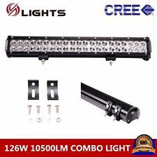 20inch 126w CREE Led Light Bar FLOOD SPOT COMBO Driving FOG Lamp ATV UTE 12V 24V