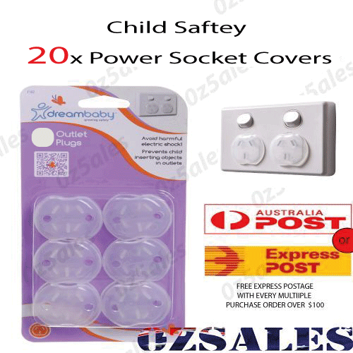 20x Baby Child Safety Power Board Covers Protective Socket Outlet Point Plug 2