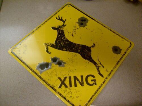 "Deer Xing Sign 12/"" x 12/"""